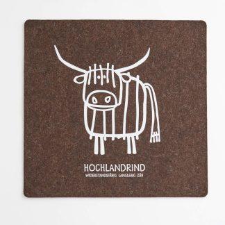 Sitzauflage Filz Tirol Design Tier Hochlandrind