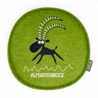 Filz Sitzpolster rund Tirol Steinbock