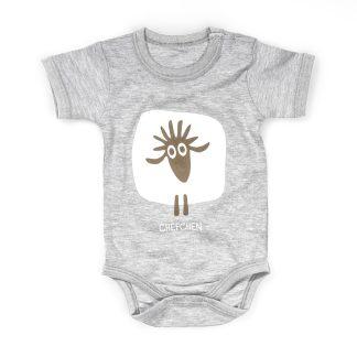 Baby Body Schaf Chefchen grau Kurzarm Baumwolle Geschenkidee