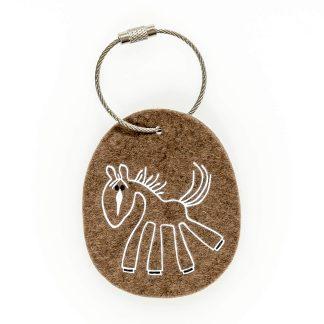 Schlüsselanhänger Filz Tier Design Tirol Wolle Pferd Geschenk Frau Mädchen