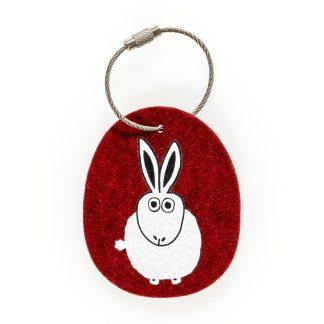 Schlüsselanhänger Filz Tier Design Tirol Wolle Hase Geschenk Ostern