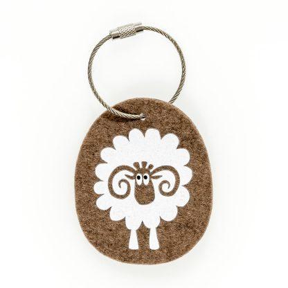 Schlüsselanhänger Filz Tier Design Tirol Wolle Widder Geschenk