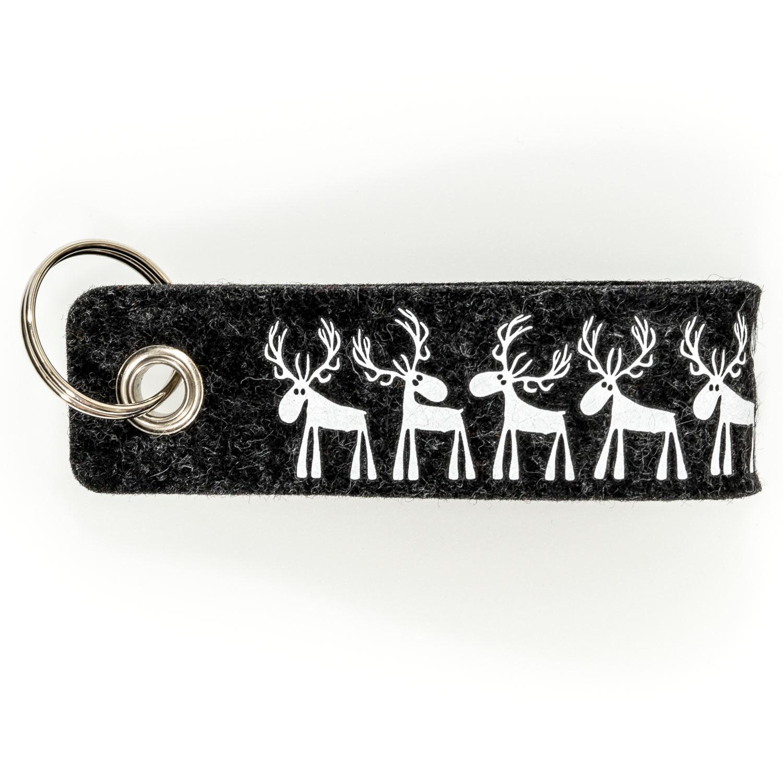 Stabiler Schlüsselanhänger aus Filz