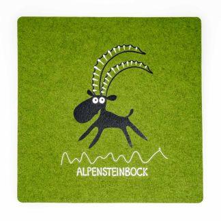 Filz Sitzauflage grün Tirol Steinbock