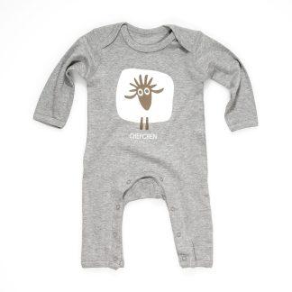 Baby Strampler Schaf Chefchen grau Baumwolle Design aus Tirol