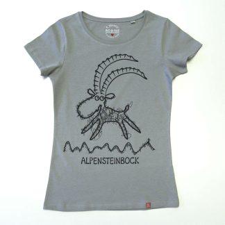 Steinbock T-Shirt Damen Tirol Design Bergfreundin