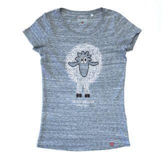 Schaf Tirol Design T-Shirt Damen blau Tiroler Bergschaf ungeschoren