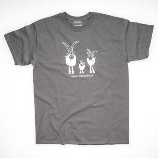 Tirol Design Steinbock grau Herren T-Shirt Tiroler Alpensteinbock Geschenk Berg