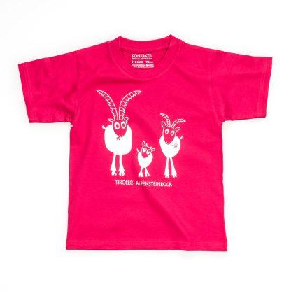 T Shirt Kinder Steinbock Tirol