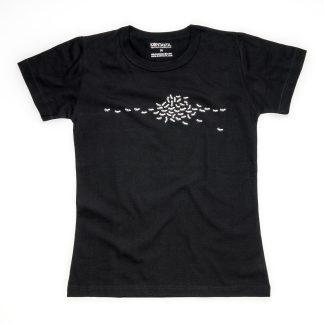 Ameisen Tirol Design T-Shirt Damen schwarz Insekt Geschenk Biologin