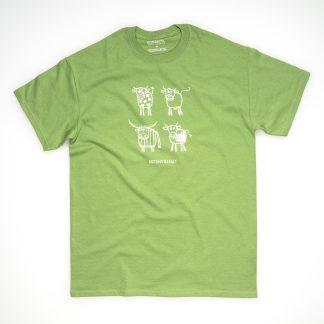 Tirol Design Kuh grün Herren T-Shirt Artenvielfalt Geschenk für Bauern