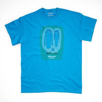 Tirol Design Bergschaf blau Schaf Herren T-Shirt Geschenk für Väter