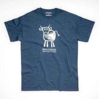 Tirol Design Bergschecke blau Kuh Herren T-Shirt Bergschnecke Geschenk Wanderer