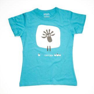 Schaf Tirol Design T-Shirt Damen blau Chefin Chefchen