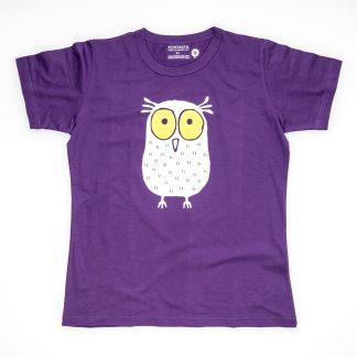 Eule Tirol Design T-Shirt Damen violett Geschenk für Studium