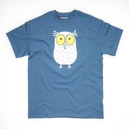 Tirol Design Eule blau Herren T-Shirt Geschenk für Männer