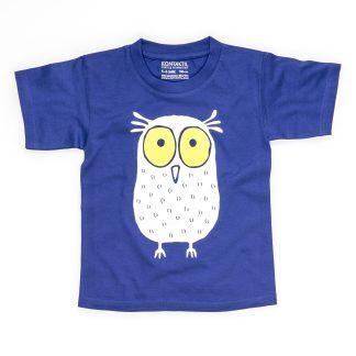 Eule T-Shirt Kind Buben Mädchen Jungen blau Tirol Design