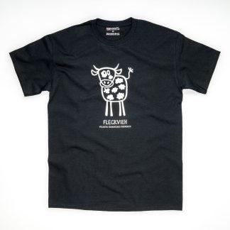Tirol Design Fleckvieh schwarz Kuh Herren T-Shirt Geschenk für Züchter