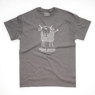 Tirol Design Grauvieh blau Herren T-Shirt Kuh Tiroler Grauvieh Rind