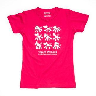 Pferd Tirol Design T-Shirt Damen pink Tiroler Haflinger