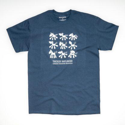 Tirol Design Pferd blau Tiroler Haflinger Herren T-Shirt