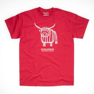 Tirol Design Hochlandrind rot Herren T-Shirt Kuh Geschenk für Züchter Rind