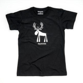 Hirsch Tirol Design T-Shirt Damen blau Prachtstück