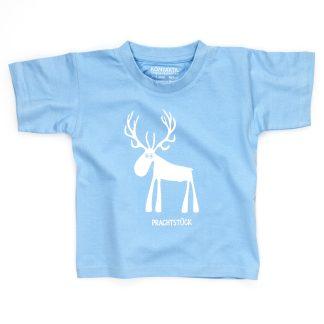 Hirsch T-Shirt Kind Buben Mädchen Jungen rot blau Prachtstück