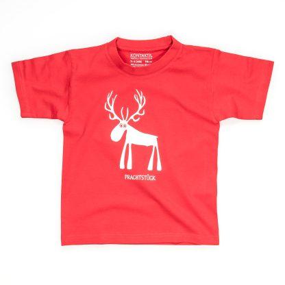 Hirsch T-Shirt Kind Buben Mädchen Jungen rot blau Prachtstück Naturbursch