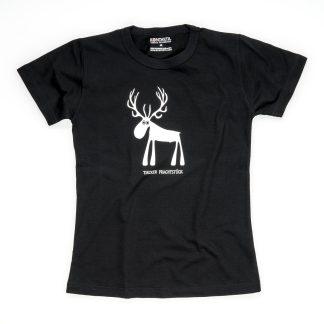 Hirsch Tirol Design T-Shirt Damen schwarz Tiroler Prachtstück