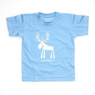 Hirsch T-Shirt Kind Buben Mädchen Jungen rot blau Tiroler Prachtstück