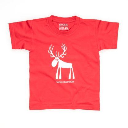 Hirsch T-Shirt Kind Buben Mädchen Jungen rot blau kleiner Jäger