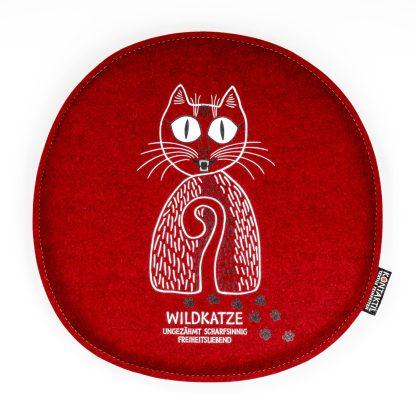 Sitzpolster aus Filz Katze