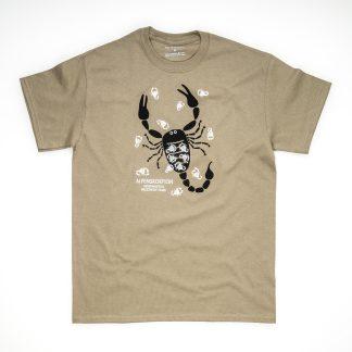 Tirol Design Hirsch blau Skorpion Alpenskorpion Herren T-Shirt