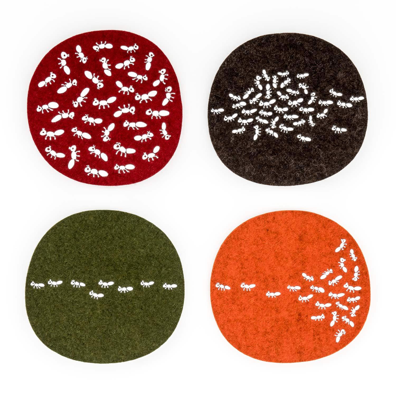Filz Untersetzer Ameisen Insekt Geschenk Wolle Tirol Design