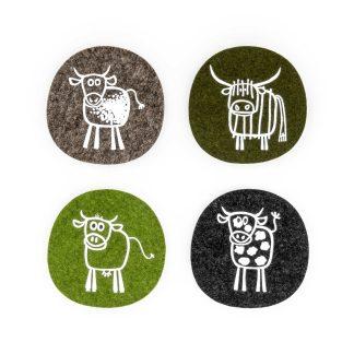 Filz Untersetzer Kuh Geschenk Landwirt Tirol Design