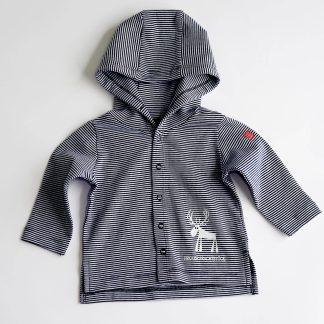 Hirsch Baby Jacke Prachtstück Bio Baumwolle Tiermotiv Tirol Design