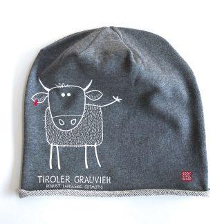 Mütze Kappe Beanie Tirol Grauvieh Kuh