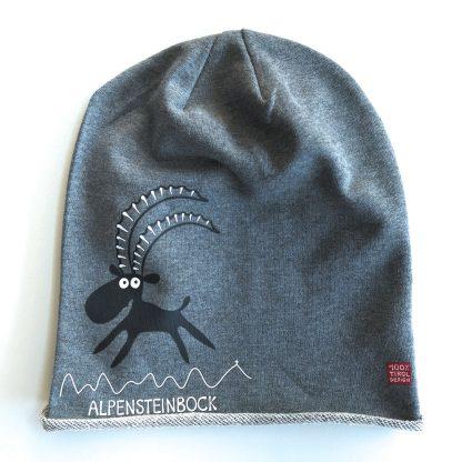 Mütze Kappe Beanie Alpen Steinbock Alpensteinbock Bergfreund Tirol