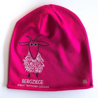 Mütze Kappe Beanie Tirol Ziege Bergziege Bergfreundin