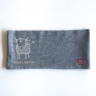 Stirnband Bio Baumwolle Kuh Grauvieh Outdoor